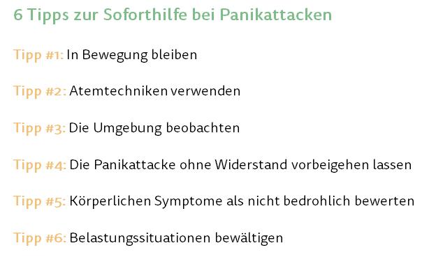 Was hilft bei Panikattacken - Tipps