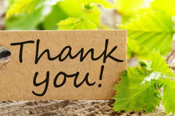 Dankbarkeit zeigen