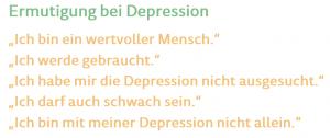 Gedanken depressiver Menschen