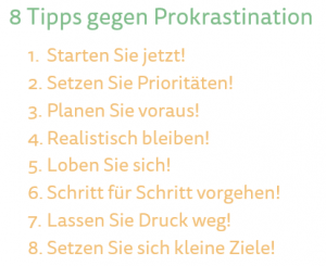 Tipps gegen Prokrastination