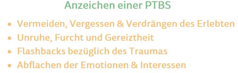 posttraumatische belastungsstörung symptome