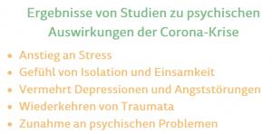 Studienergebnisse bezüglich Corona-Krise und Psyche