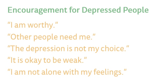 Encouragement for depressed People