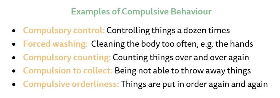 Examples of compulsive behaviour