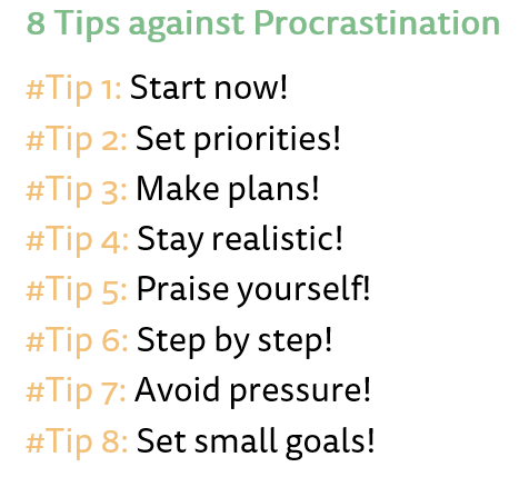 8 Tips against Procrastination