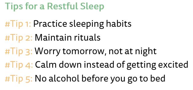 Sleeping Disorder - Tips for Restfull Sleep