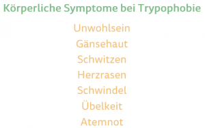 körperliche Symptome bei Trypophobie